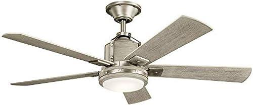 2021 Kichler 300052NI Colerne high quality Ceiling Fan, 1-Light, outlet sale Brushed Nickel online sale