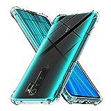 Ferilinso Hülle Kompatibel mit Xiaomi Redmi Note 8 Pro Hülle, [Version mit Vier Ecken verstärken] [Kamerapflegeschutz] Stoßfeste, weiche TPU-Silikonhülle aus Gummi (Transparent)