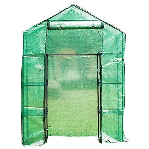 LQQ Tomaten tomatenhaus Kleines Begehbares PVC-Gewächshaus mit 4-stufigen Regalen, für Obst Im Freien Gemüse Blumen Pflanzen, Quictent Waterproof