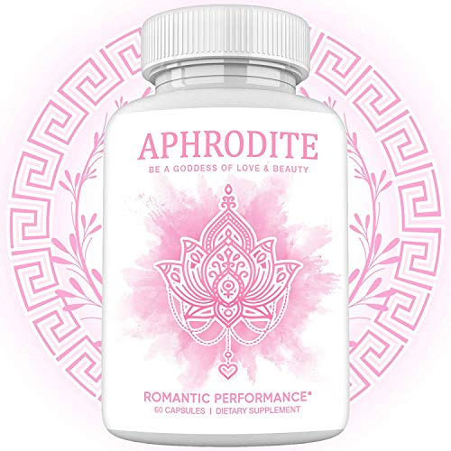 Aphrodite Female Enhancement Pills - Goddess Blend w/RX Hormone Balance, Drive Booster, Desire Effects, & Mood for Women – Natural Saw Palmetto, Maca Root, Ginseng, Tongkat Ali Root – 60 Caps