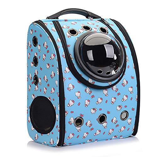 Ruilin Pet Space Bag - Atmungsaktive, tragbare, transparente Katzenhundetasche, tragbarer Tierrucksack für unterwegs