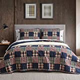 Eddie Bauer Home | Madrona Collection | Bedding Set-100% Cotton Light-Weight Quilt Bedspread, Pre-Washed for Extra Comfort, Full/Queen, Red
