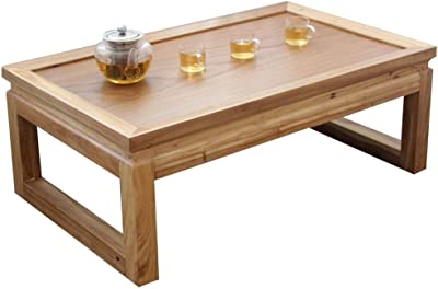 Black Walnut Tea Table Tatami Coffee Table Bay Window Table Balcony Table Japanese Low Table Platform Table Coffee Table (Color : Brown, Size : 50 * 40 * 25cm)