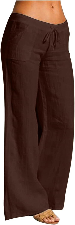 UBST Women's Pajama Pants, Women Wide Leg Lounge Pants Pajama Bottoms Floral Yoga Palazzo Pants Drawstring Sweatpants