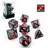 Bescon D&D Polyhedral Dice Set de 7 Dados GEM VINES Dice, Rocas Minerales RPG Juego de rol Dados 7pcs Set de RUBY