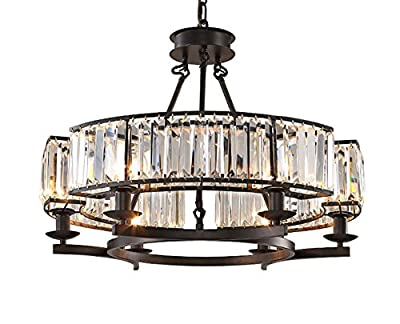 Luxury Contemporary Island Crystal Chandelier Flush Mount Pendant Light Lighting Fixture for Dining Room