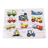 TOYMYTOY Puzzle de Madera para vehículos para niños pequeños Niños de Edad Preescolar Aprendizaje Educativo y sensorial