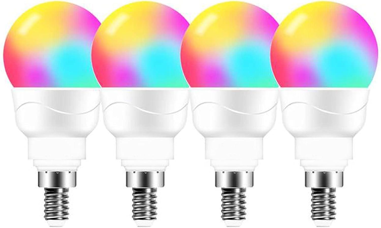 JZlamp E14 LED Light Bulb RGB Lamp Memphis Mall Smart Lighting Change Color D Japan's largest assortment