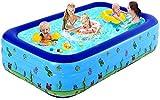 XBSXP Piscinas inflables, Piscinas portátiles para niños, Piscina Familiar, Centro de natación para Adultos, Exterior, jardín, 150X110X50CM-Azul