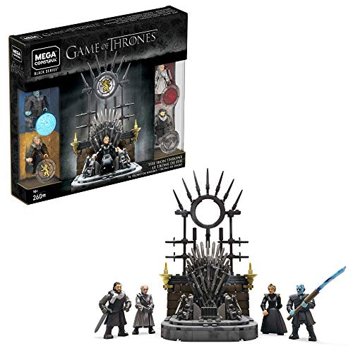 Mega Construx GKM68 - Probuilder Game of Thrones Der eiserne Thron, Bauset mit Actionfiguren
