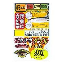 がまかつ(Gamakatsu) ワカサギダブル 6本仕掛 狐タイプ W239 2-0.2.