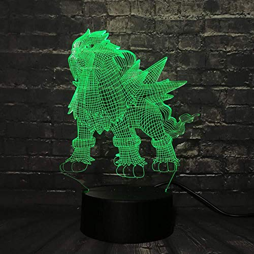 Lava lamp spel Pet Go Action Figuur RGB licht Ibron Monster Ball Bay karakter Nachtlampje Illusie 16 kleuren nachtlampje 3D illusie lichten lamp LED tafel bureau decoratie 16 kleuren Touch Control