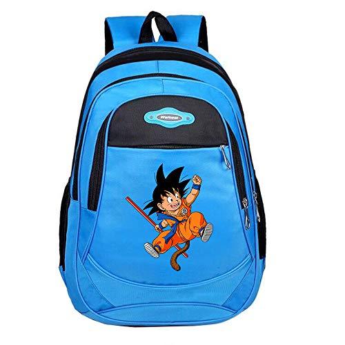Dragon Ball Mochila Escolar Bolso de Escuela Primaria Secundaria Mochila de impresión Mochilas Casuales for niños y niñas Niños (Color : Blue02, Size : 28 x 14 x 44cm)