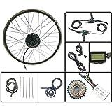 GJZhuan Cubo de la Rueda del Motor eléctrico Kit de conversión de la Bicicleta 48V350W Girar Trasero con LCD3 Display 16-28 Pulgadas 700C E-Bici,28inch LCD Sets