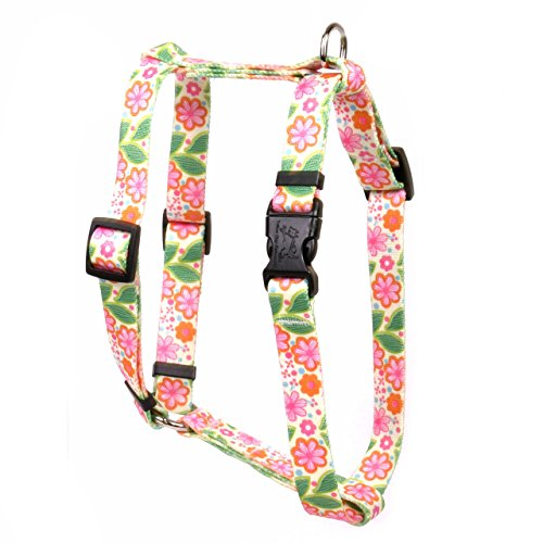 Yellow Dog Design Flower Patch Roman Style Dog Harness, Large