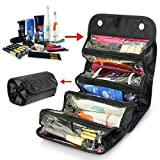 Forever Haru Roll Up Travel Cosmetic Makeup Bag Toiletry Hanging Zip Organizer Storage Case Pouch…