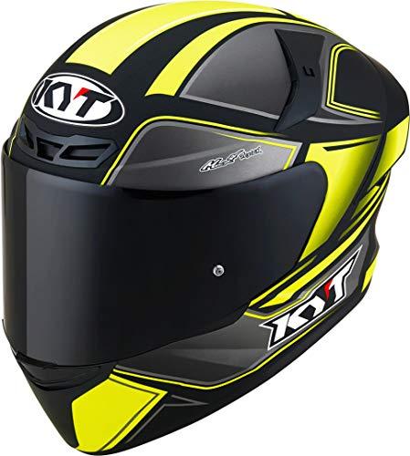KYT TT Course Tourist Helm Grau/Gelb M (57/58)