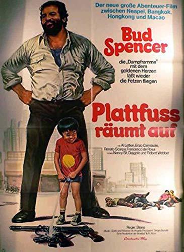 Plattfuß räumt auf - Bud Spencer Filmposter A1 84x60cm gefaltet-G2