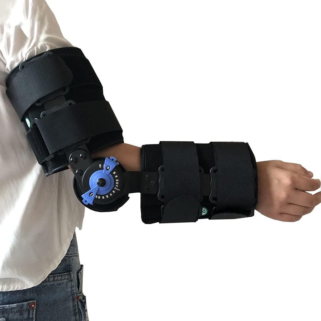 Zyxdk Codo Ortopédico, Ortesis de Brazo Estabilizador Apoyo Entablillar, para Síndrome Túnel Cubital, Tendinitis Nervio de Cúbito, Limitar Movimiento y Disminución Dolor, Hombres Mujeres