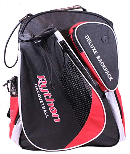 """Python Deluxe""""Backpack"""" Racquetball Bag (Black/Red)"""