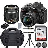 Nikon D3400 24.2MP DSLR Camera with Nikon AF-P DX 18-55mm f/3.5-5.6G VR Lens + 32GB High Speed Memory Card + Camera Carrying Bag + Tripod (Renewed)