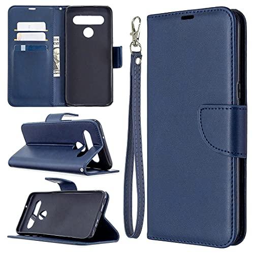 Cubierta de la caja del tirón del teléfono Estuche para LG K61 Multifuncional Cartera Teléfono Móvil Caja de cuero Premium Color Sólido PU Caja de cuero, Titular de la tarjeta de crédito Función Funci