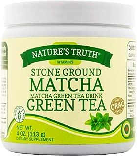 Nature's Truth Stone Ground Matcha Green Tea Drink Powder, 4 Fluid Ounce