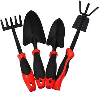 LSX Gardening Four-Piece, Shovel/Double-Headed Hoe/Scorpion/Gardening Shovel Double-Headed Garden Flower Planting Set, Home Gardening Supplies