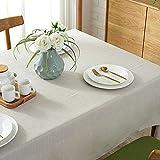 PhantasyIsland.com Manteles de Mesa Rectangular Antimanchas Lino para Cocina Decoración del Hogar Verde 140 * 180Cm