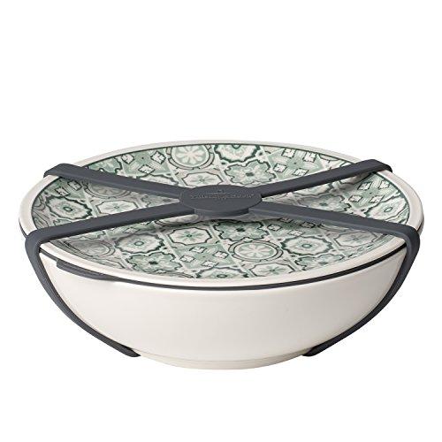 like. by Villeroy & Boch - To Go Schale L, Aufbewahrungsbox für Essen, Premium Porzellan, grün, 800 ml, spülmaschinengeeignet