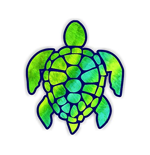 Vinyl Junkie Graphics 3 inch Sea Turtle Sticker for Laptops CupsTumblers Cars and Trucks Any Smooth Surface (Green-Yellow)