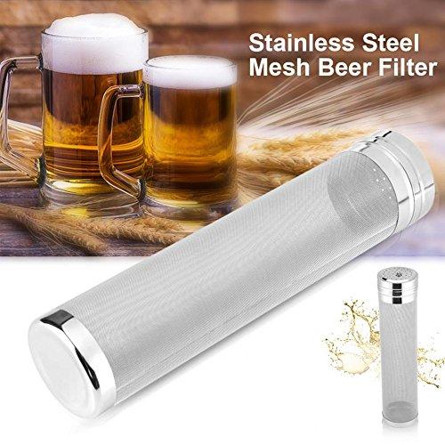 Filtro seco de la tolva de la cerveza, Merrday cartucho de filtro de la cerveza de la malla del micrón del tamiz del acero inoxidable de (2.8''X11.8'')