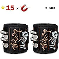 2-Pack Gooacc Magnetic Tool Wristband