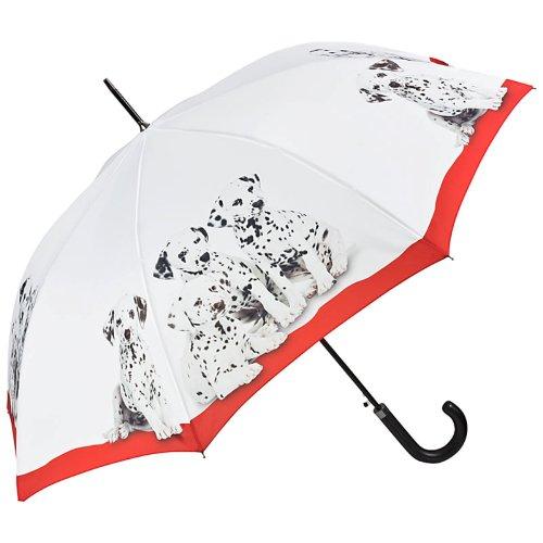 VON LILIENFELD Paraguas de Iluvia Largo Clásico Automático Grande Estable Mujer Motivo Perro Dálmatas