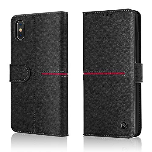 iPhone Echte Lederen Hoes, Gebei Aceh Series Mobiele Telefoon Boek Portemonnee Clamshell Onzichtbare Magnetische Gesp Cover voor iPhone