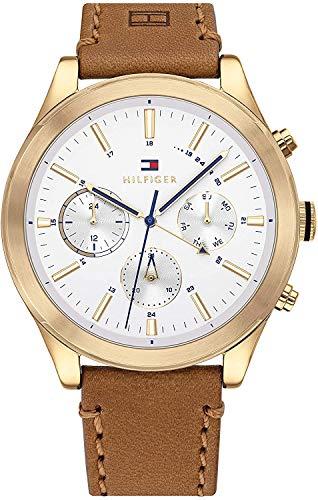 Tommy Hilfiger Reloj para de Cuarzo con Correa en Cuero 1791742