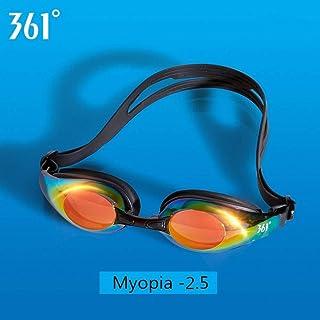 4e29f9cd06 ZJHKGafas De Natacion Miopía Gafas De Natación para Profesionales Gafas De  Natación Espejadas con Receta Gafas