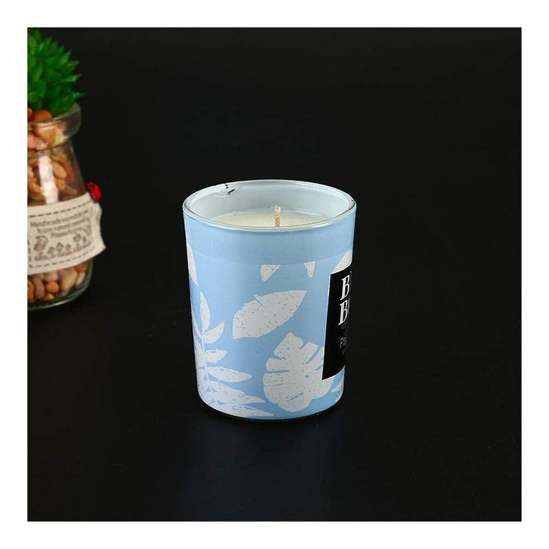 怖がらせるモディッシュへこみGuomao アロマセラピーキャンドルカップ告白アーティファクトキャンドル手で環境に優しい無煙大豆ワックス (色 : Blue wind chime)