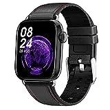 QFSLR Smartwatch Pulsera Inteligente Reloj con Monitor De Frecuencia Cardíaca Monitor De Presión Arterial Monitoreo De Oxígeno En Sangre Rastreador De Salud para Andriod Y iOS,Negro