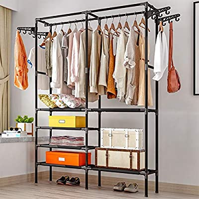 Heavy Duty Clothes Rack,Free-Standing Hanger Sh...