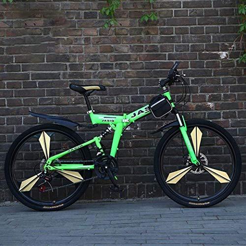 Las bicicletas de montaña, bicicleta plegable 24/26 de 21 pulgadas con velocidad suspensión de doble freno de disco completo antideslizante, variables bicis de carreras de velocidad for hombres y muje