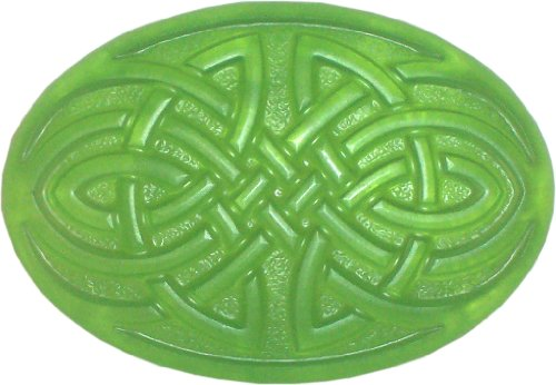 Celtic Knot Soap, Apple Orchard, Clear Green