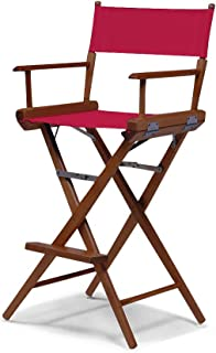 Telescope Casual World Famous Bar Height Director Chair, Forest Green with Walnut Frame