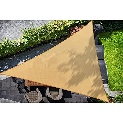 DOEWORKS Toldo de Vela Triangular con Bloqueo UV para Patio, jardín, Arena