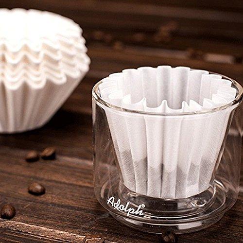 BAZAAR Lot de 50 filtres à café en papier Coupe Bol avec N ° 185 filtre papier bac filtre à café paniers