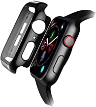 FOOKANN Tempered Glass Screen Protector Case/Cover for Apple Watch 38mm Series 3, Protective Cover for iWatch Series 3, Black