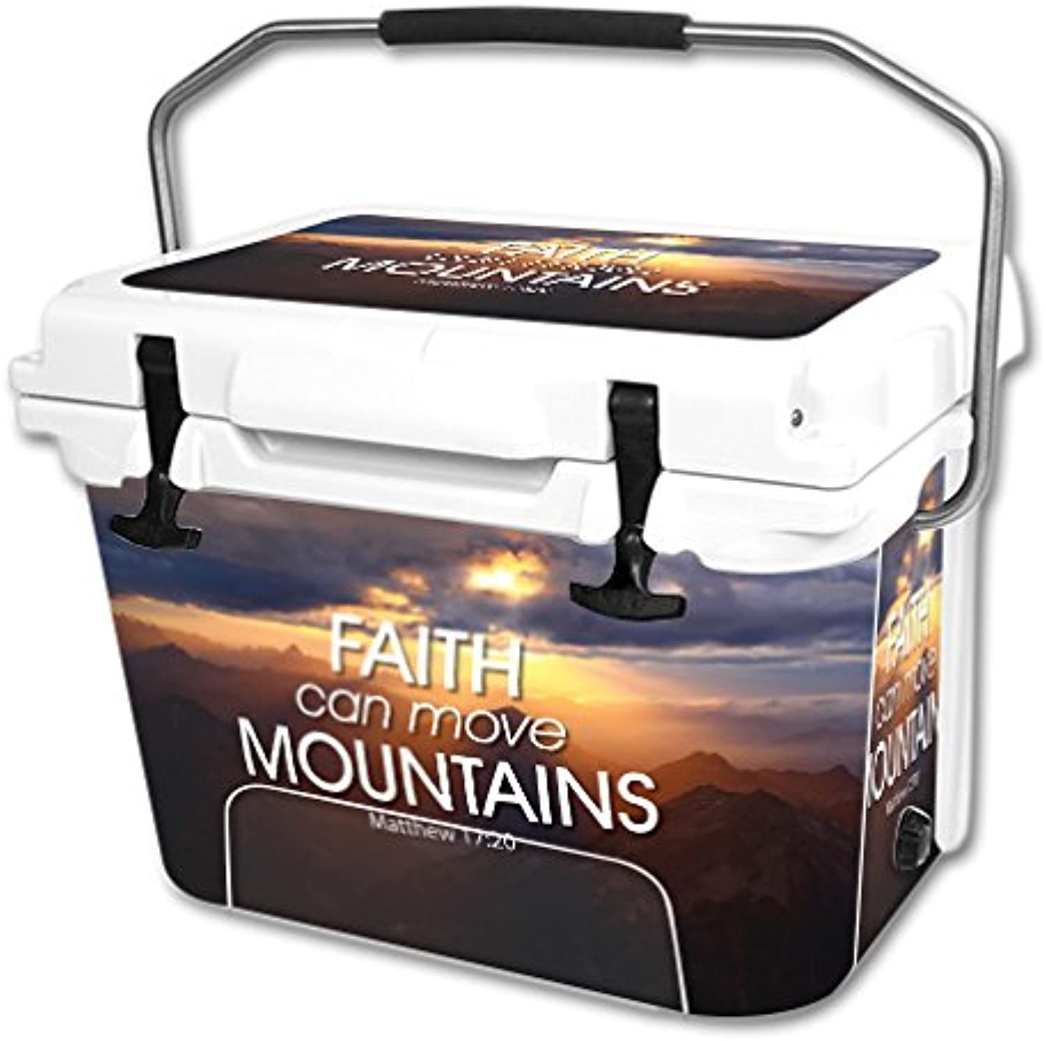MightySkins Skin Compatible with RTIC 20 qt Cooler (2016) – Move Mountains   Predective, Durable, and Unique Vinyl Decal wrap Cover   Easy to Apply, Remove, and Change Styles   Made in The USA
