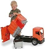 LENA 02166 - Camion Poubelle Orange et gris de 64cm