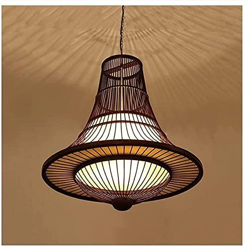 SXDYJ Chino Handwoven Bamboo Chandelier Suroeste Asiático Japonés Creativo Colgante Light Light Fitting Lights Lámpara Colgante Iluminación