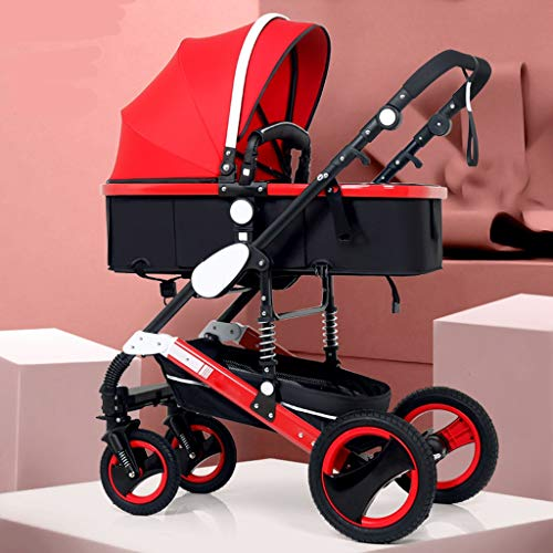 Sale!! STRR Pram, Convertible Reclining Stroller, Foldable and Portable Shockproof Stroller Baby Car...